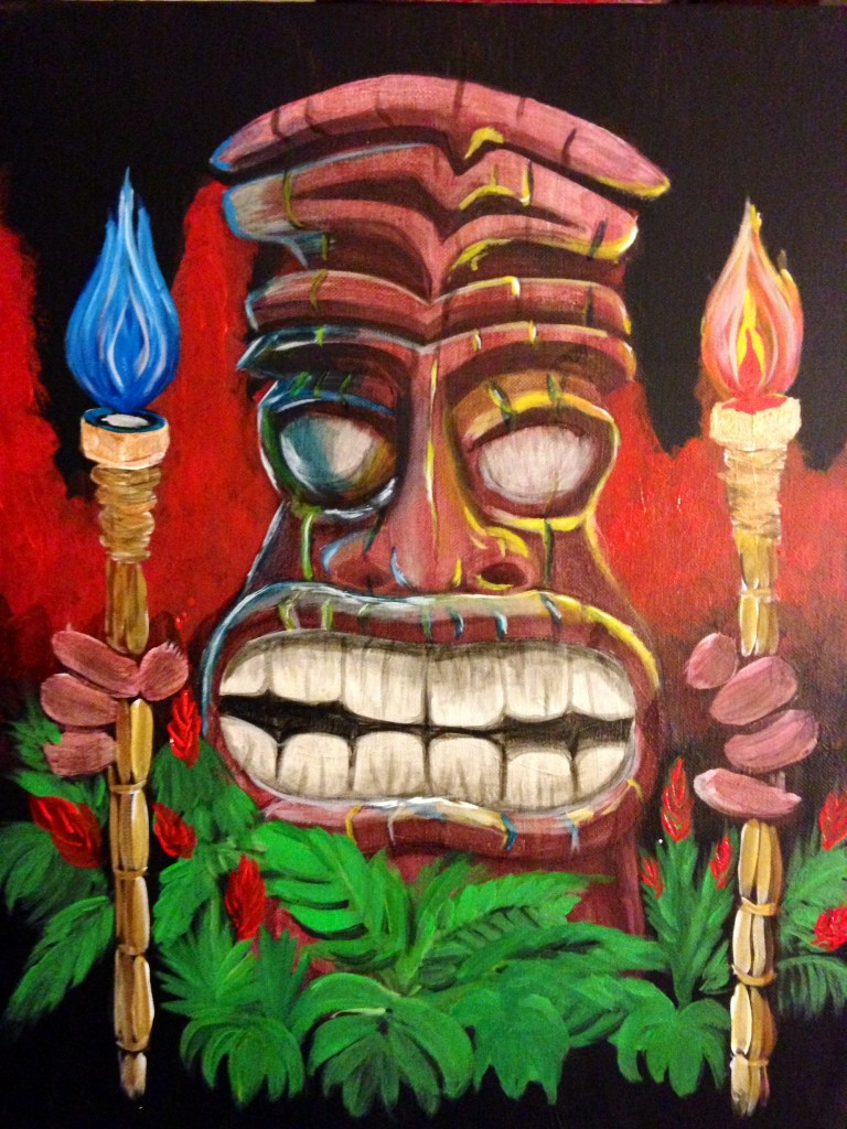 Matrix Tiki ... Blue torch or Red torch